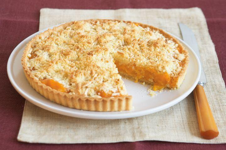 Apricot, peach and almond pie
