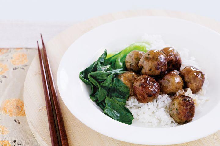 Asian-style pork meatballs