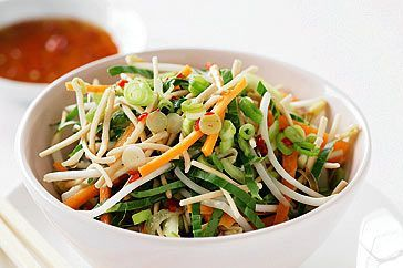 Asian-style slaw with soy and chilli dressing