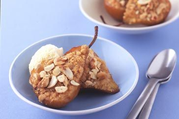 Cashew crumble pears