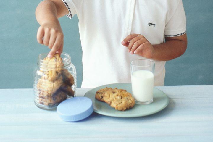 Giant triple-choc crunchy cookies