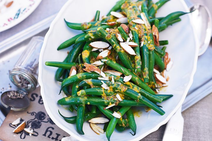 Green bean salad with cumin & orange dressing