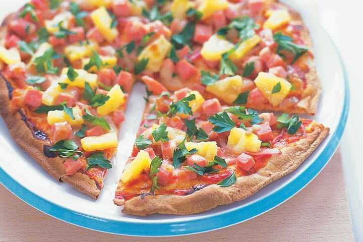 Grilled flatbread pizzas