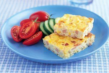 Ham and corn frittata