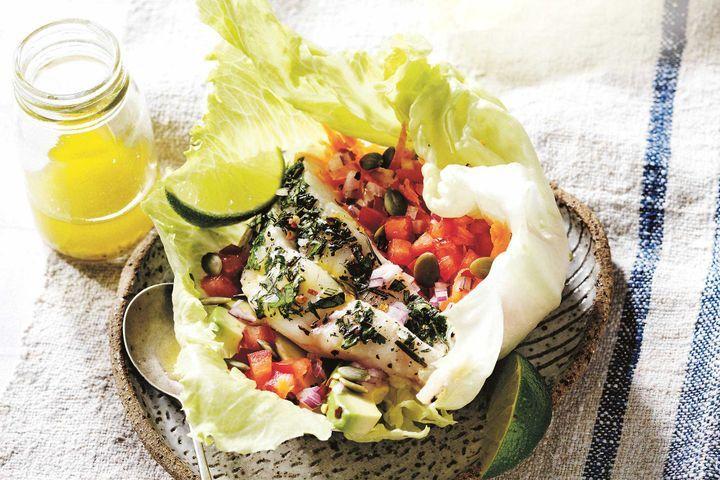 Healthy fish 'tacos'