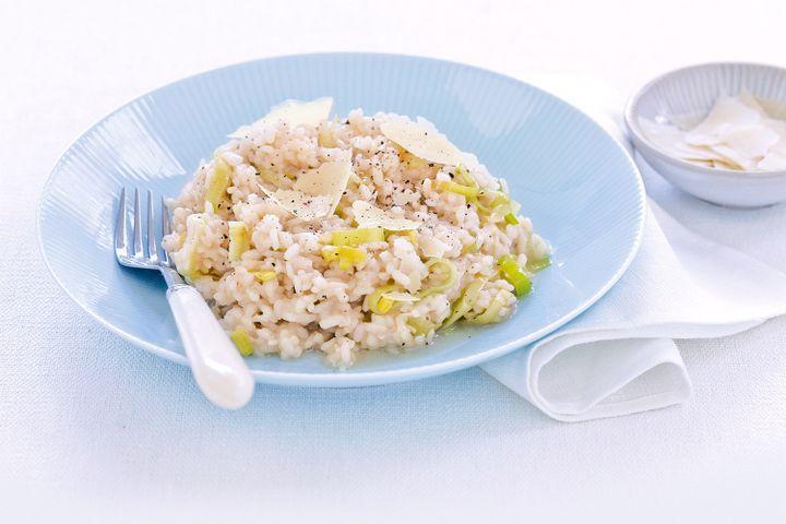 Leek & parmesan risotto