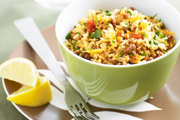 Moroccan mince and rice
