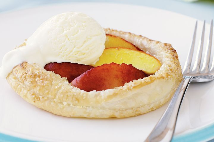 Nectarine and almond tarts