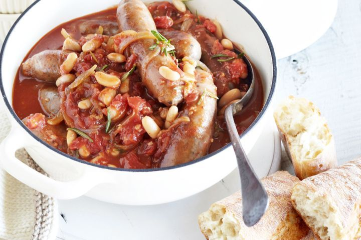 Sausage and white bean cassoulet