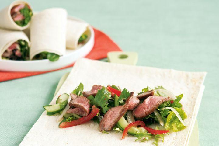 Thai beef salad wrap
