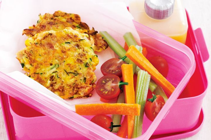 Vegetable and ham fritters