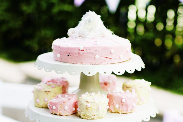 White-choc buttermilk cakes with butter icing